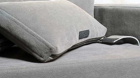 Removable slipcovers for Armonia pet sofa