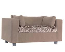 Pet sofa taupe - plaid Leopard