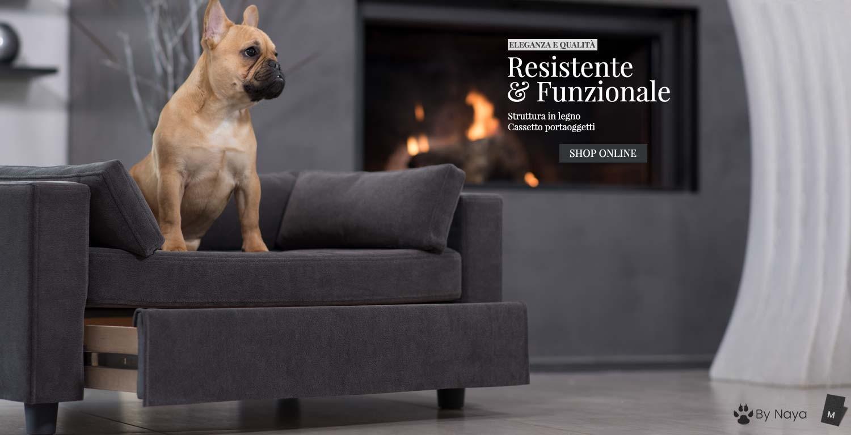 divanetto cani legno cassetto
